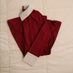 Dresses & Skirts - Elfin Red and White Collared Dress (S)